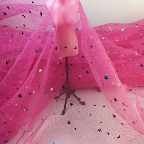Sparkle Tulle | Light Fuchsia | K36A-W27 | 54""